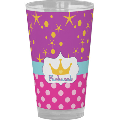 Sparkle & Dots Drinking / Pint Glass (Personalized)