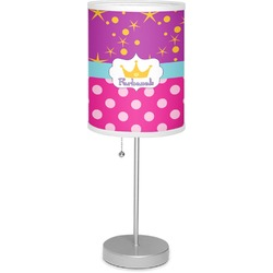 """Sparkle & Dots 7"""" Drum Lamp with Shade (Personalized)"""