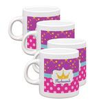 Sparkle & Dots Espresso Mugs - Set of 4 (Personalized)
