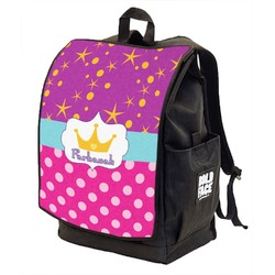 Sparkle & Dots Backpack w/ Front Flap  (Personalized)