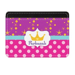 Sparkle & Dots Genuine Leather Front Pocket Wallet (Personalized)