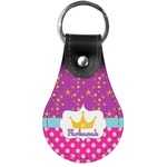 Sparkle & Dots Genuine Leather  Keychain (Personalized)
