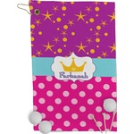 Sparkle & Dots Golf Towel - Full Print (Personalized)