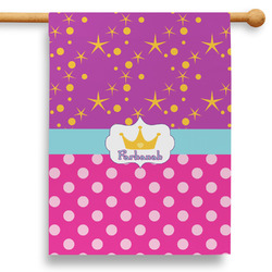 """Sparkle & Dots 28"""" House Flag (Personalized)"""