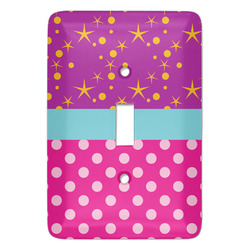 Sparkle & Dots Light Switch Covers - Multiple Toggle Options Available (Personalized)