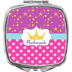 Sparkle & Dots Compact Makeup Mirror (Personalized)