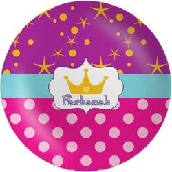 Sparkle & Dots Melamine Plate (Personalized)