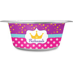 Sparkle & Dots Stainless Steel Dog Bowl (Personalized)