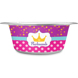 Sparkle & Dots Stainless Steel Pet Bowl (Personalized)