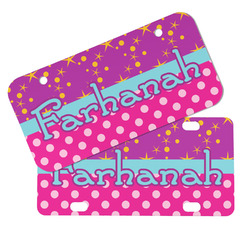 Sparkle & Dots Mini/Bicycle License Plates (Personalized)
