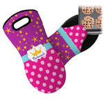 Sparkle & Dots Neoprene Oven Mitt (Personalized)