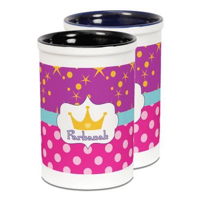 Sparkle & Dots Ceramic Pencil Holder - Large