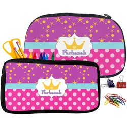 Sparkle & Dots Pencil / School Supplies Bag (Personalized)
