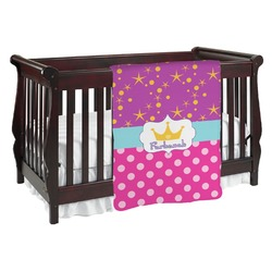 Sparkle & Dots Baby Blanket (Personalized)