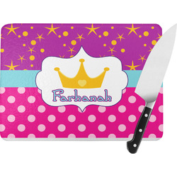 Sparkle & Dots Rectangular Glass Cutting Board (Personalized)