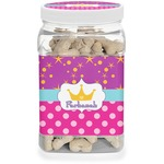Sparkle & Dots Pet Treat Jar (Personalized)