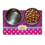 Sparkle & Dots Pet Bowl Mat (Personalized)