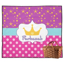 Sparkle & Dots Outdoor Picnic Blanket (Personalized)