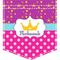 Sparkle & Dots Iron On Faux Pocket (Personalized)