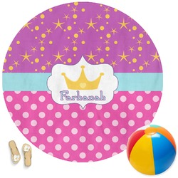 Sparkle & Dots Round Beach Towel (Personalized)