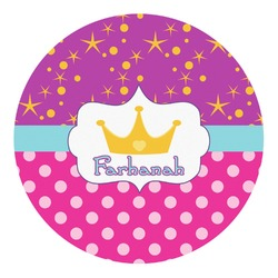Sparkle & Dots Round Decal - Custom Size (Personalized)