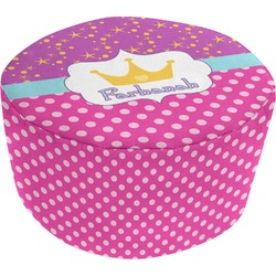 Sparkle & Dots Round Pouf Ottoman (Personalized)