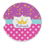 Sparkle & Dots Sandstone Car Coasters (Personalized)