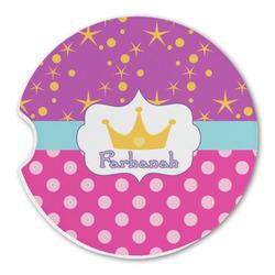 Sparkle & Dots Sandstone Car Coasters (Personalized)