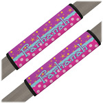 Sparkle & Dots Seat Belt Covers (Set of 2) (Personalized)