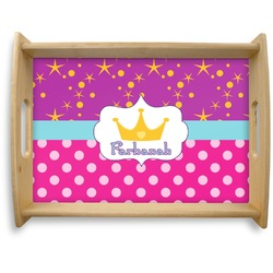 Sparkle & Dots Natural Wooden Tray - Large (Personalized)