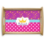 Sparkle & Dots Natural Wooden Tray (Personalized)