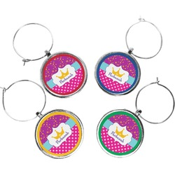 Sparkle & Dots Wine Charms (Set of 4) (Personalized)