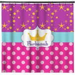 Sparkle & Dots Shower Curtain (Personalized)