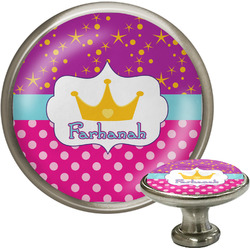 Sparkle & Dots Cabinet Knob (Silver) (Personalized)