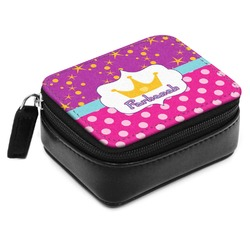 Sparkle & Dots Small Leatherette Travel Pill Case (Personalized)