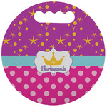 Sparkle & Dots Stadium Cushion (Round) (Personalized)