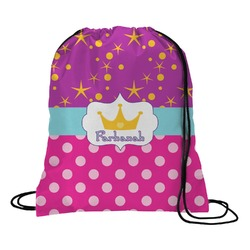 Sparkle & Dots Drawstring Backpack (Personalized)