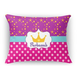Sparkle & Dots Rectangular Throw Pillow (Personalized)