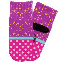 Sparkle & Dots Toddler Ankle Socks (Personalized)