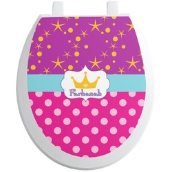 Sparkle & Dots Toilet Seat Decal (Personalized)