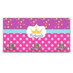 Sparkle & Dots Wall Mounted Coat Rack (Personalized)