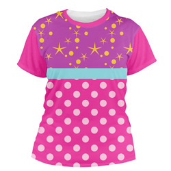 Sparkle & Dots Women's Crew T-Shirt (Personalized)