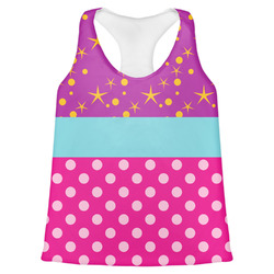 Sparkle & Dots Womens Racerback Tank Top (Personalized)