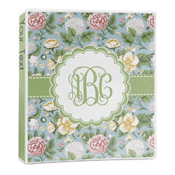 Vintage Floral 3-Ring Binder - 1 inch (Personalized)