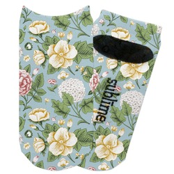 Vintage Floral Adult Ankle Socks (Personalized)