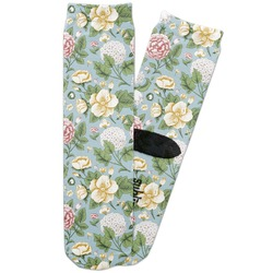 Vintage Floral Adult Crew Socks (Personalized)