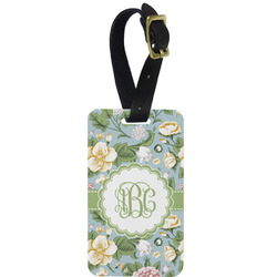Vintage Floral Aluminum Luggage Tag (Personalized)