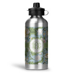 Vintage Floral Water Bottle - Aluminum - 20 oz (Personalized)