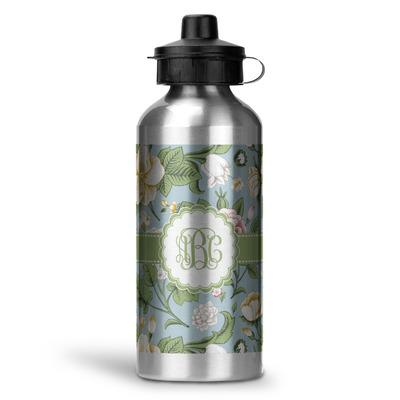 Vintage Floral Water Bottle - Aluminum - 20 oz (Personalized)