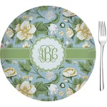"Vintage Floral Glass Appetizer / Dessert Plates 8"" - Single or Set (Personalized)"